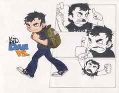 Kid Dan Vs. Childhood by Loeobot