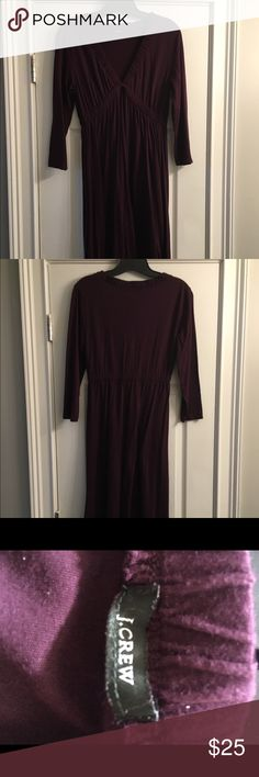 J Crew dress Eggplant colored elastic waist dress. I cut the tag out because it bothered my neck but the dress is a medium and 100% cotton. Knee length J. Crew Dresses Midi