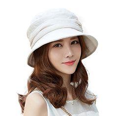 254a6181c50d90 SIGGI Damen Faltbarer Sommerhut Sonnenhut UV 50 mit Kinnriemen Schutz Graue.  Hut Umfang:56