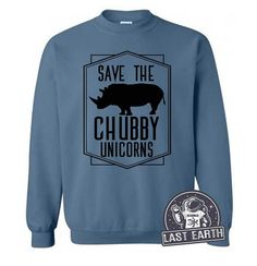 Save The Chubby Unicorns Funny Sweater Fleece Pullover