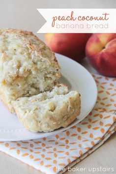 Peach Coconut Banan Bread Recipe