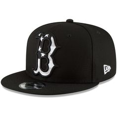 35021297e4928 Men s Boston Red Sox New Era Black Flag Fill 9FIFTY Adjustable Hat