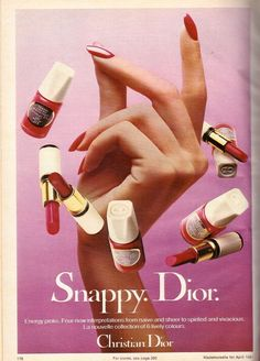 1981 Christian Dior Cosmetics Makeup Print Advertisement Ad Vintage VTG 80s | eBay