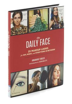 The Daily Face. Spice up your beauty routine with this makeup tutorial from Chronicle Books. #multi #modcloth