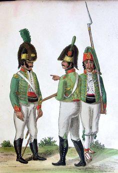 Regimiento Cataluña. Soldados
