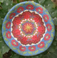 Roman de la Rose Tam designed by Kate Wallace using Renaissance Dyeing's naturally dyed organic Poll Dorset wool.