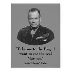 """Lewis """"Chesty"""" Puller, and the Marine Corps commandant himself. Description from firohyrebi.comoj.com. I searched for this on bing.com/images"""