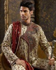 A sherwani gives the aura of royalty