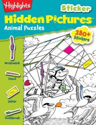 """Highlights Sticker Hidden Pictures: Animals Puzzles"" ages 3+ 