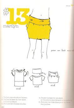 Minirock aus T-Shirt