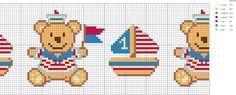 ponto cruz para bebe marinheiro - Pesquisa Google