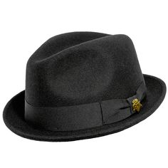 450beeb4664 Vintage Men s CHAMP Black Feel The Felt Fedora Hat Kasmir Finish Size 7 1 4