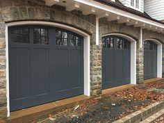 Faux Garage Door Windows, Faux Wood Garage Door, Sliding Garage Doors, Garage Door Colors, Garage Door Paint, Carriage Garage Doors, Garage Door Styles, Garage Door Makeover, Garage Door Design
