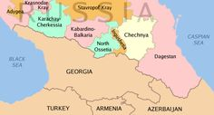 North Caucasus regions within the Russian Federation.
