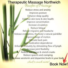Therapeutic Massage Northwich   Appointments Available Next Week. Massage Therapist You Suffering Aches & Pains Massage Treatment Will Help!   Fully Qualified Massage Therapist.  Fully Insured Therapist.  Qualified Indian Head Massage.   Qualified Naturopathy.   Qualified Improve Your Memory.  (FREE FACIAL MASSAGE WITH EVERY TREATMENT BOOKED) Web sites www.therapeuticmassagenorthwich.co.uk Facebook site:  www.facebook.com/ginawalton1971
