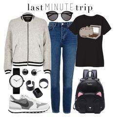 """Last Minute Trip"" by joslynaurora on Polyvore featuring moda, Topshop, River Island, NIKE, Pusheen, Yves Saint Laurent, comfy, sneakers y lastminutetrip"