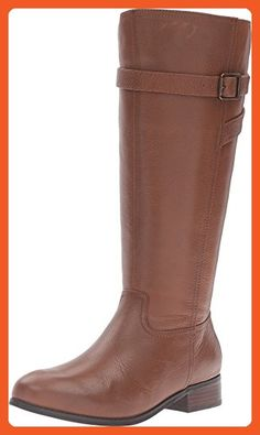 0a5c979da206 Trotters Women s Lyra Wide Calf Cognac Veg Tumbled Leather Boot - Boots for  women (
