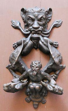 ♅ Detailed Doors to Drool Over ♅ art photographs of door knockers, hardware & portals - gothic door knocker