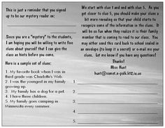 Postcard for Mystery Reader ~ Cute idea for CT Loves to Read Day + Mystery Book Club tie-in! Reading Day, Teaching Reading, Teaching Tools, Teaching Ideas, Learning, Kindergarten Classroom, Classroom Ideas, Vista Print, Parent Teacher Communication