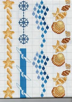 Mermaid Cross Stitch, Cross Stitch Sea, Cross Stitch Bookmarks, Cross Stitch Needles, Simple Cross Stitch, Cross Stitch Borders, Cross Stitch Charts, Cross Stitching, Cross Stitch Embroidery