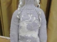 Свитер для Тильды вяжем спицами - Ярмарка Мастеров - ручная работа, handmade