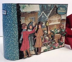 How To Make a 6X4 Pocket Mini Album From Start To Finish featuring A Christmas Carol from Graphic 45