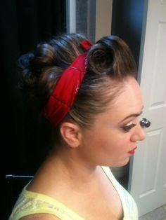 Pin up hair and makeup by Whitney Renee' Anderson @bellahairandmakeup