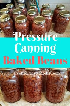 This article focuses on pressure canning baked beans in quart jars. The recipe itself is quick and easy, but the process is a little more complicated. Canning Soup Recipes, Canning Beans, Canning Tips, Canning Jar Storage, Easy Canning, Pressure Canning Meat, Pressure Cooker Recipes, Pressure Cooking, Canning Food Preservation