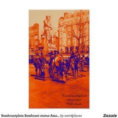 Rembrantplein Rembrant statue Amsterdam
