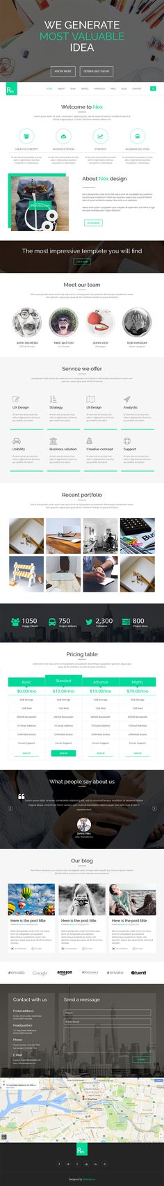 App Plus - Free One Page Website HTML Template - GraphicArmy | One ...