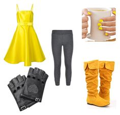 Fnaf withered chica inspired outfit by mangle87 on Polyvore featuring polyvore, fashion, style, P.A.R.O.S.H., Brunello Cucinelli and Valentino