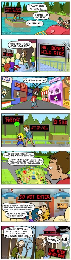 What It's Like Being A Visitor In Roller Coaster Tycoon (JHall Comics) LOL this made me laugh a lot.