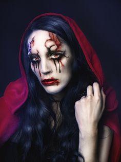 Little dark red riding hood I by *RebecaSaray on deviantART