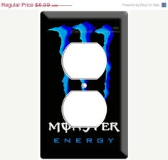 ON SALE Inspired by Monster Blue energy soft drink by DecorLounge, $6.64