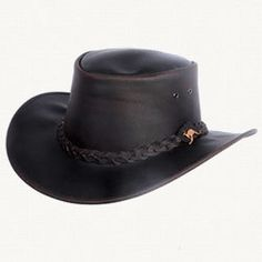 Down Under Leather Bush Hat-Brown will help you stay cool when you need to!