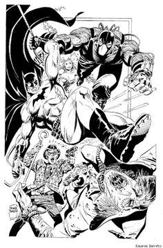 Batgirl, Batwoman, Nightwing by Leo Matos Batwoman, Batgirl, Nightwing, Batman Comic Art, Batman Comics, Comic Tutorial, Batman Family, Comics Girls, Comic Book Artists