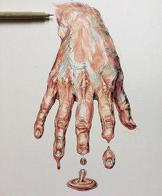 Work by @NoelbadgesPugh - . Tag: #_tebo_ - . Via @watercolor_arte -