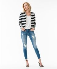 Updated preppy looks - Jacket with stripes | Gina Tricot New Classics | www.ginatricot.com | #ginatricot