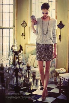 I really want a sparkly skirt now. This is wearable sparkle!