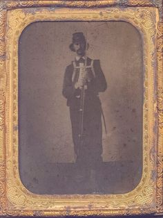Half Plate Ambro - Civil War Soldier