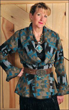 Rhonda Stark Designs / Zuni Turquoise Casual Jacket