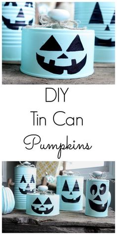 DIY Tin Can Pumpkins Fun and Easy DIY Tin Can Pumpkins! A perfect Halloween craft for adults and kids alike! The post DIY Tin Can Pumpkins appeared first on Halloween Crafts. Diy Haloween, Theme Halloween, Halloween Crafts For Kids, Diy Halloween Decorations, Holidays Halloween, Halloween Diy, Holiday Crafts, Autumn Crafts For Adults, Kids Crafts