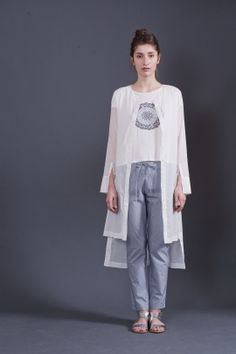 Long white shirt | Adelina Ivan Studio