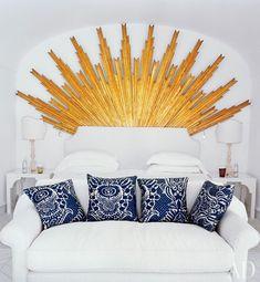 Sunburst Mirror in the VILLA TRE VILLE HOTEL- AD Magazine