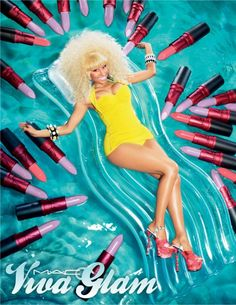 Nicki Minaj & Mac Cosmetics took to twitter this morning to release the first promo pic for Nicki Minaj's new Viva Glam Lipstick. check out the pic above.    Going solo in 2013, @NICKIMINAJ's next Viva Glam Lipstick avail Feb. #BARBZ, you made it trend: #LAVENDERISTHENEWPINK pic.twitter.com/2Ajw8BpI