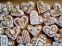 A Somewhat Different Story about the Gingerbread House Snow Cookies, Lace Cookies, Crazy Cookies, Snowflake Cookies, Valentine Cookies, Yummy Cookies, Christmas Gingerbread House, Christmas Mood, Christmas Candy