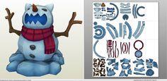 Papercraft .pdo file template for League of Legends - Snowman.