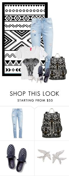 """""""aztec"""" by cnle ❤ liked on Polyvore featuring Paige Denim, SM New York, Keds and Zoe & Morgan"""