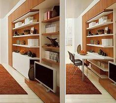 Mesa dobrável para a sala. Pinterest:  br.pinterest.com/pinideias www.ideiasdiferentes.com.br |Imagem não autoral|
