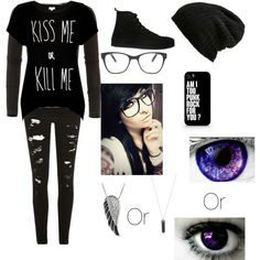 My emo school outfits - Polyvore